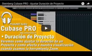 Cubase PRO - Ajustar duración de un proyecto