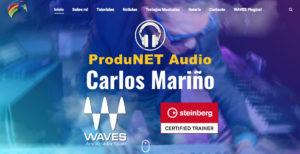Descubre la página de Carlos Mariño, ProduNET Audio
