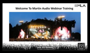 Martin Audio MLA Training webinar