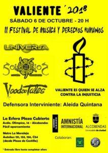 Universa en el festival Valiente de Amnistía Internacional.