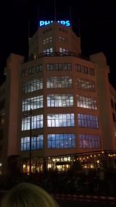 Vídeo mapping en las oficinas centrales de Philips.