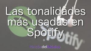 Las tonalidades más usadas en las 30 millones de canciones de Spotify.